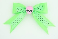 Dot green / skull plain pink green skull