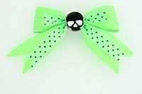 Dot green / skull plain black green skull