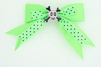 Dot green / skull cross eye pink green skull
