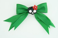 Green / cute skull glower black-red green cute skull