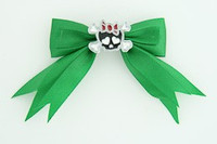 Green / cute skull bone black-red green cute skull