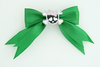Green / cute skull bone black-pink green cute skull