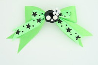 Green / cute skull flower black-white green cute skull