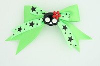 Green / cute skull flower black-red green cute skull