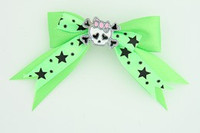 Green / cute skull bone white-pink green cute skull