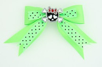 Dot green / cute skull bone black-red green cute skull