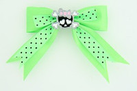 Dot green / cute skull bone black-pink green cute skull