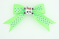 Dot green / cute skull bone white-red green cute skull