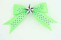Dot green / star black-white green star