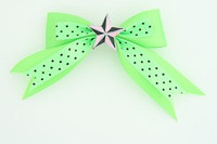 Dot green / star black-pink green star