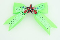 Dot green / star cherry black-red green star
