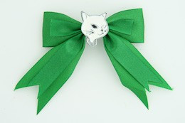 Green / cat white green animal