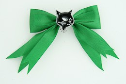 Green / cat black green animal