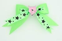 Green / cat pink green animal