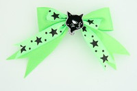 Green / Cat Black Green Animal
