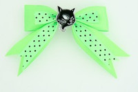 Dot green / cat black green animal