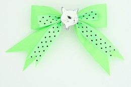 Dot green / cat white green animal