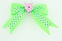 Dot green / cat pink green animal