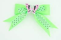 Dot green / butterfly pink green animal