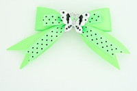 Dot green / butterfly white green animal