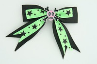 Bl-green / skull cross eye pink black-green skull