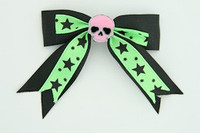 Bl-green / skull plain pink black-green skull