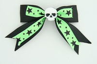Bl-green / skull plain white black-green skull