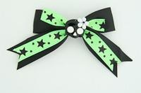 Bl-green / cute skull flower black-white black-green cute skull
