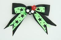 Bl-green / cute skull flower black-red black-green cute skull