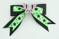 Bl-green / butterfly pink black-green animal