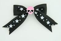 Bl-white / skull plain pink black-white skull