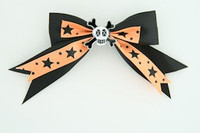 Bl-orange / skull cross eye white black-orange skull