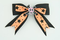 Bl-orange / skull cross eye pink black-orange skull