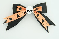 Bl-orange / skull plain white black-orange skull