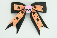 Bl-orange / skull plain pink black-orange skull