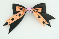 Bl-orange / skull tooth pink black-orange skull