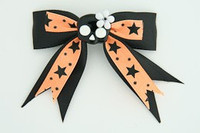 Bl-orange / cute skull flower black-white black-orange cute skull