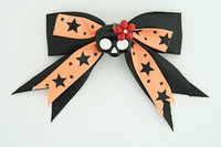 Bl-orange / cute skull flower black-red black-orange cute skull