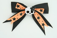 Bl-orange / cute skull flower white-black Black-orange cute skull