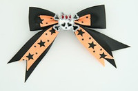 Bl-orange / cute skull bone white-red black-orange cute skull