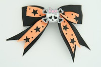 Bl-orange / cute skull bone white-pink black-orange cute skull
