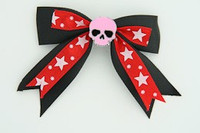 Bl-red / skull plain pink black-red skull