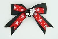 Bl-red / cute skull flower black-white black-red cute skull