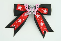 Bl-red / butterfly pink black-red animal
