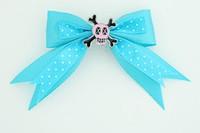 Dot blue / skull cross eye pink blue skull