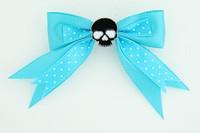 Dot blue / skull plain black blue skull