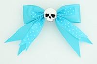Dot blue / skull plain white blue skull
