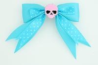 Dot blue / skull plain pink blue skull