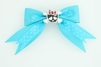 Dot blue / cute skull bone black-red blue cute skull