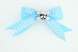 Blue / cute skull bone black-pink blue cute skull